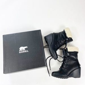 Sorel After Hours Lace Shearling Boots